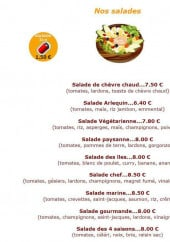 Menu L'Arlequin - Les salades et boissons