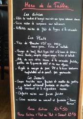 Menu La tablee d'Adeline - exemple de menu