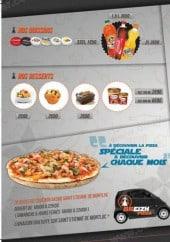 Menu Breizh pizza - desserts et boissons