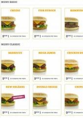 Menu Diner's Burger - Les menus basic et classic