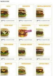 Menu Diner's Burger - Les menus star