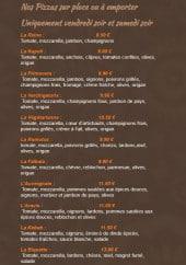 Menu La Table de Lucullus - Pizzas