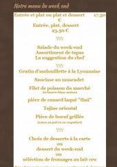 Menu La Table de Lucullus - Menu du week end