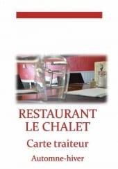 Menu Restaurant Le Chalet - Carte et menu Restaurant Le Chalet Saint Mars la Jaille