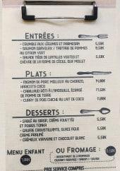 Menu L'atelier M - Entrées, plats, desserts...