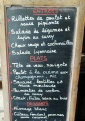 Menu Chez les Jacquin - Exemple de menu du jour