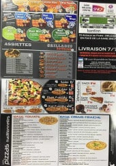 Menu Kantinn - Assiettes, pizzas, grillades,....