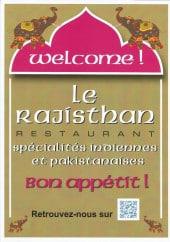 Menu Le Rajisthan - Carte et menu Le Rajisthan, Orléans