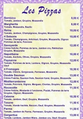 Menu Le Rococo - Les pizzas