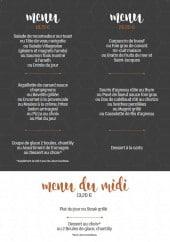 Menu Le Lamparo - Les menus