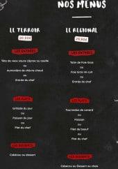 Menu Auberge du vieux - Les menus
