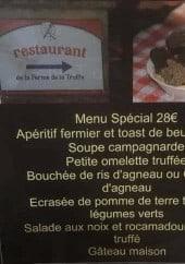 Menu La Ferme de la truffe - Menu spécial