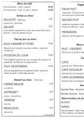 Menu Au P'Tit Bonheur - Le menu du midi