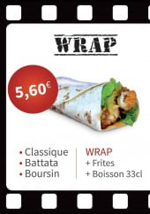 Menu Chicken Moovie - Le  menu wrap