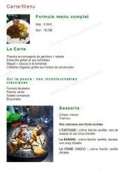 Menu Il Ristorante - Les formules et desserts