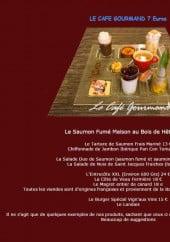 Menu La Vign' aux vins - Le café gourmand