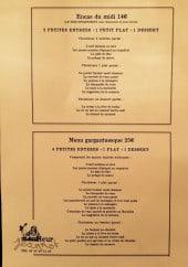 Menu Monsieur Jeannot - La formule midi à 14€ et menu gargantuesque à 25€