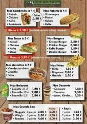 Menu Urban Tacos - Le menu à la carte