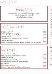 Menu La Halte - Les menus