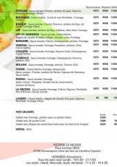 Menu La Niçoise - Les pizzas suite, salades et frites