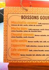 Menu Le Joy's Cafe - Boissons gourmandes
