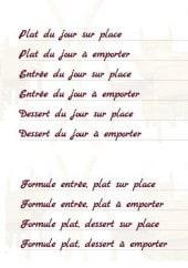 Menu La Tablée du Foirail - Entrées, plats, formules...