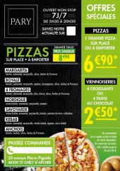 Menu Pary - Pizzas