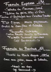 Menu Bistrot Matchou - Exemple de menu