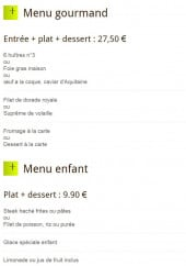 Menu Brasserie de la Gare - Menus