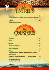 Menu Le Paloma - Couscous et entrées