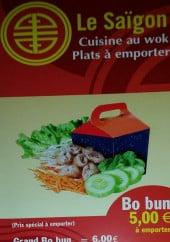 Menu Le Saigon - Carte et menu Le Saigon Angers
