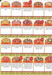Menu O'2rives - Les pizzas