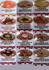Menu Pasta pizza - Les pizzas: salmone, milano, fruits de mer,...
