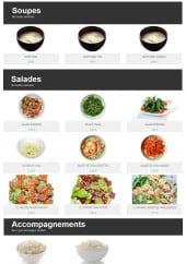 Menu Sushi & Store - Les soupes, salades et accompagnements