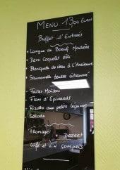 Menu Côté Jardin - Exemple de menu