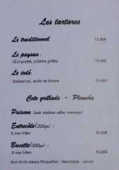 Menu L'arrosoir - Les tartares, côté grillage, plancha,...
