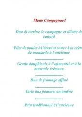 Menu Le Lemon's - Le menu campagnard