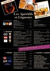 Menu Café Leffe - Les apéritifs et liqueurs