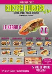 Menu Edessa Burger - Carte et menu Edessa Burger Cholet