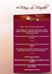 Menu La Touchetière - Le menu du marché