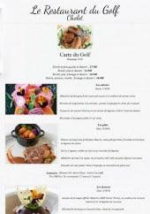 Menu Le Restaurant du Golf - La carte