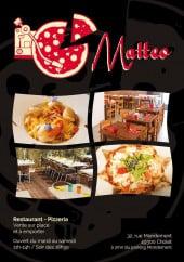 Menu Pizzéria Mateo - Carte et menu Pizzéria Mateo Cholet