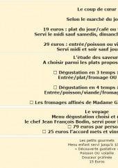 Menu L'Aubergade - Les menus