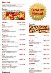 Menu Le Cappuccino - Les pizzas