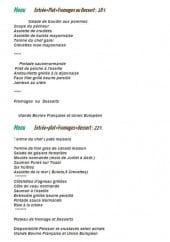 Menu L'Auberge Normande - Le menu  à 18€ et menu à 22€