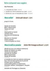 Menu L'Auberge Normande - Les formules, menu enfant...