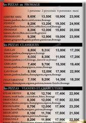 Menu Allo pizza - les pizzas au fromage, les pizzas classique, les pizzas marines, les pizzas viandes et charcuteries