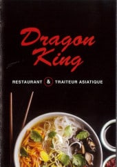 Menu Dragon King - Carte et menu printemps Dragon King Chalons en Champagne