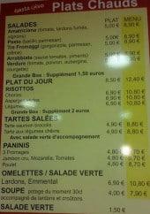 Menu Pasta-Riso - Les plats chauds