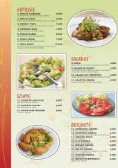 Menu Restaurant Tajmahal - Les entrées, salades, soupes et beignets